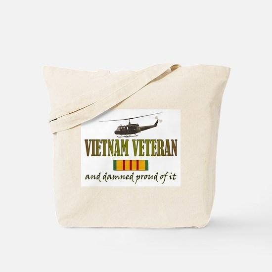 Proud Vietnam Veteran Tote Bag