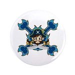 "Cute Pirate Captain 3.5"" Button"