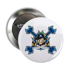 "Cute Pirate Captain 2.25"" Button (10 Pk)"