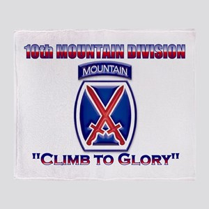 10th Mountain Division Throw Blanket