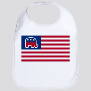GOP elephant logo USA Bib