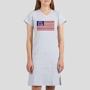GOP elephant logo USA Women's Nightshirt