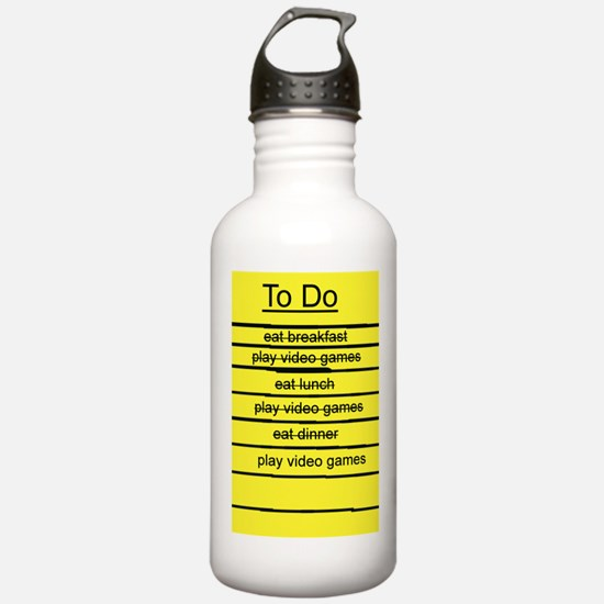 JDE - Video Gamer To Do List Water Bottle