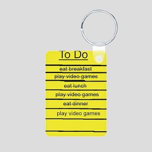 JDE - Video Gamer To Do List Aluminum Photo Keycha