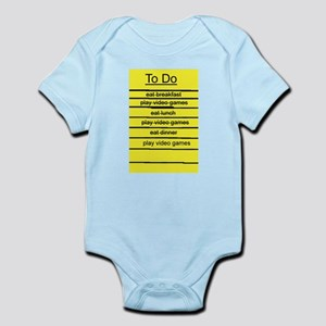 JDE - Video Gamer To Do List Infant Bodysuit