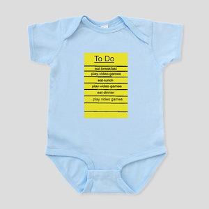 JDE - Video Gamer To Do List Infant Bodysuit