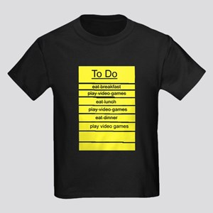 JDE - Video Gamer To Do List Kids Dark T-Shirt