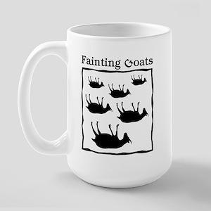 Fainting Goats Large Mug