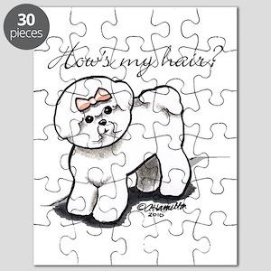 Bichon Hair Humor Puzzle