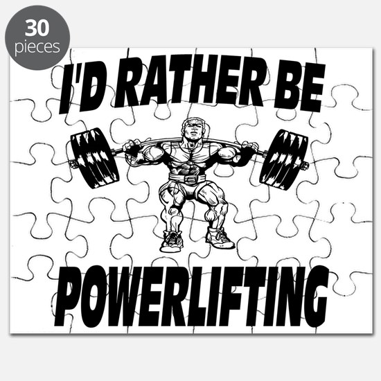 I'd Rather Be Powerlifting Weightlifting Puzzle
