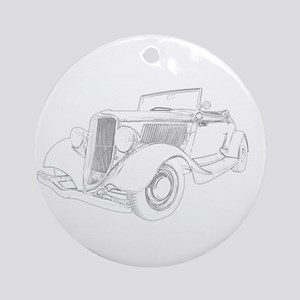 Ford 1932 Convertible Ornament (Round)