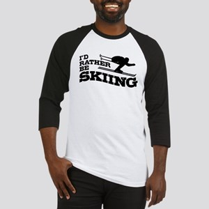 I'd Rather be Skiing Baseball Jersey