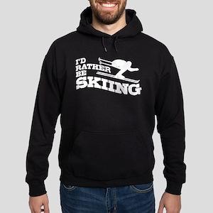 I'd Rather Be Skiing Hoodie (dark)