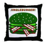 Jingle Burger! Throw Pillow
