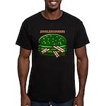 Jingle Burger! Men's Fitted T-Shirt (dark)