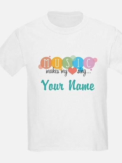 Custom Music Sings Quote T-Shirt
