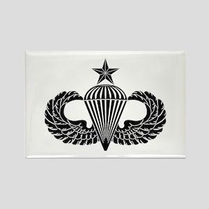 Sr. Parachutist -- B-W Rectangle Magnet