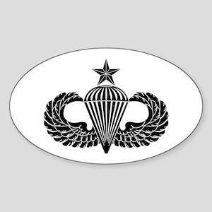 Sr. Parachutist -- B-W Sticker (Oval)