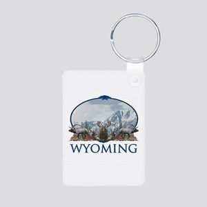 Wyoming Aluminum Photo Keychain