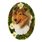 Rough Collie Ornament (Oval)