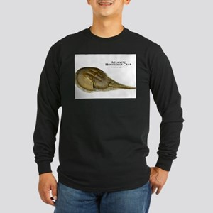 Atlantic Horseshoe Crab Long Sleeve Dark T-Shirt