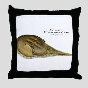 Atlantic Horseshoe Crab Throw Pillow