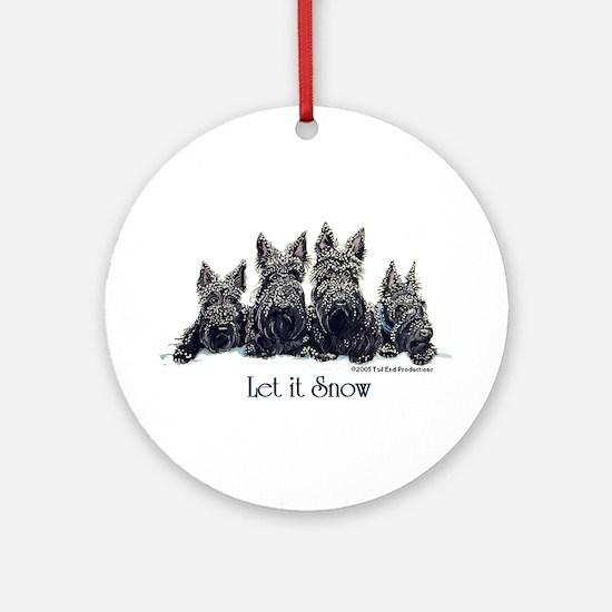 Scottish Terrier Winter Ornament (Round)