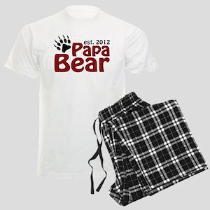 Papa Bear Claw Est 2012 Men's Light Pajamas