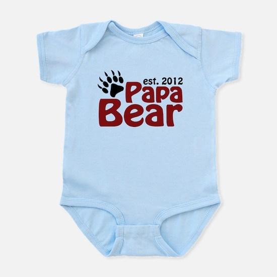 Papa Bear Claw Est 2012 Infant Bodysuit