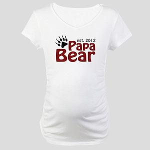 Papa Bear Claw Est 2012 Maternity T-Shirt