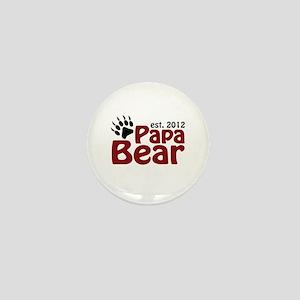 Papa Bear Claw Est 2012 Mini Button