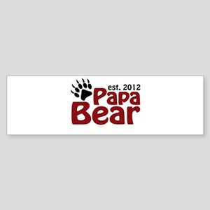 Papa Bear Claw Est 2012 Sticker (Bumper)