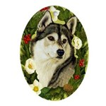 Siberian Husky Ornament (Oval)