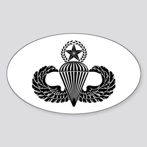 Master parachutist -- B-W Sticker (Oval)
