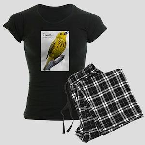 Yellow Warbler Women's Dark Pajamas