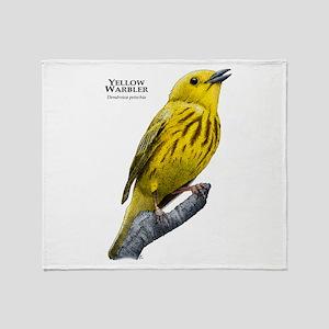 Yellow Warbler Throw Blanket