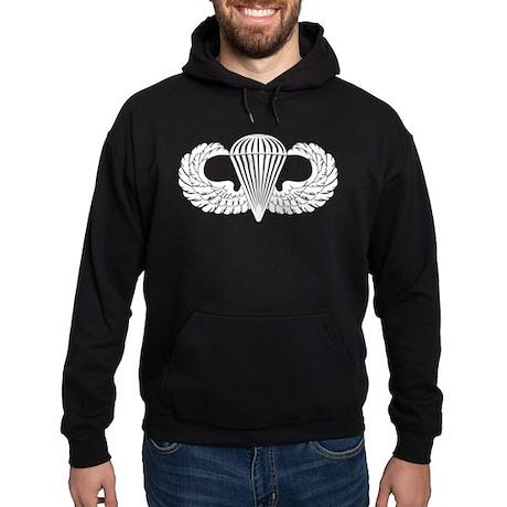 Parachutist -- B-W Hoodie (dark)
