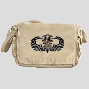Combat Parachutist 1st -- B-W Messenger Bag