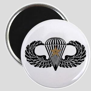 Combat Parachutist 1st -- B-W Magnet