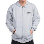 iDad (black font) Zip Hoodie