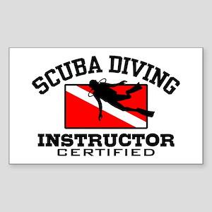Scuba Diving Instructor Sticker (Rectangle)