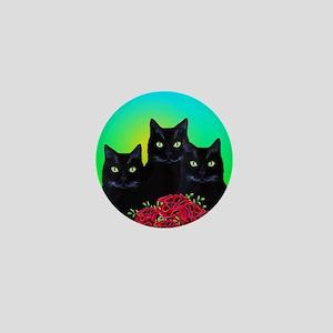 Black Cats Mini Button
