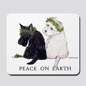 Scottish Terrier Westie Xmas Mousepad