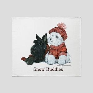 Scottish Terrier & Westie Sno Throw Blanket