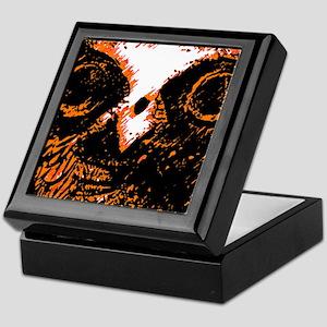 Orange Owl Art Keepsake Box