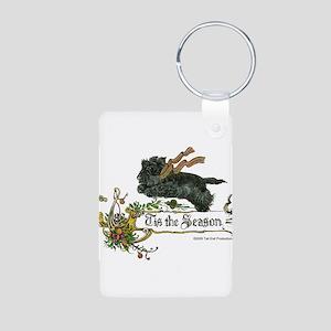Scottish Terrier Season Aluminum Photo Keychain