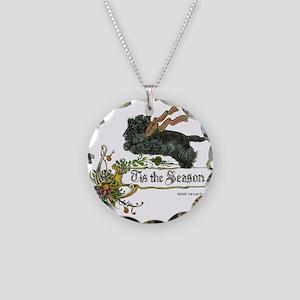 Scottish Terrier Season Necklace Circle Charm