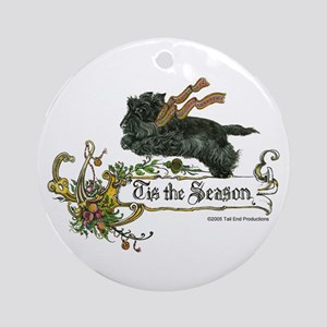 Scottish Terrier Season Ornament (Round)