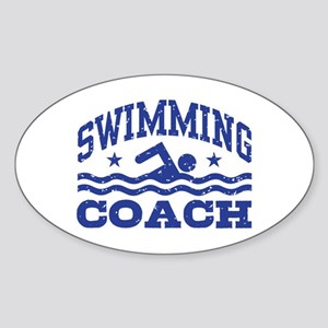Swimming Coach Sticker (Oval)