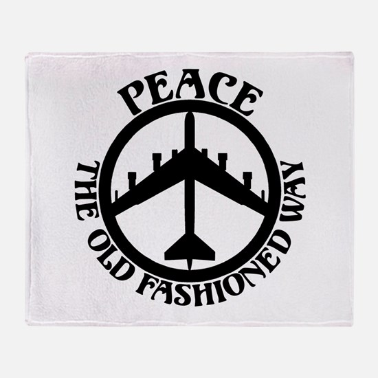 B-52 Peace the Old Fashioned Way Throw Blanket